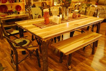 Amish-Made Hickory Furniture