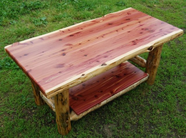 Rustic Red Cedar Coffee Table - Cabin Creations | Phillips, WI -