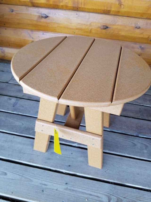 Wondrous Poly Lumber Outdoor Round End Table Cabin Creations Download Free Architecture Designs Boapuretrmadebymaigaardcom